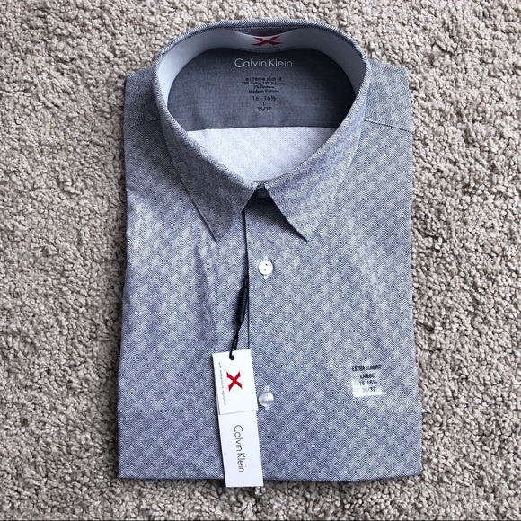 f0ca1b1ee673 Calvin Klein Shirts | Mens Extreme Slim Fit Dress Shirt L | Poshmark